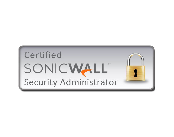 certified sonicwall security administrator logo