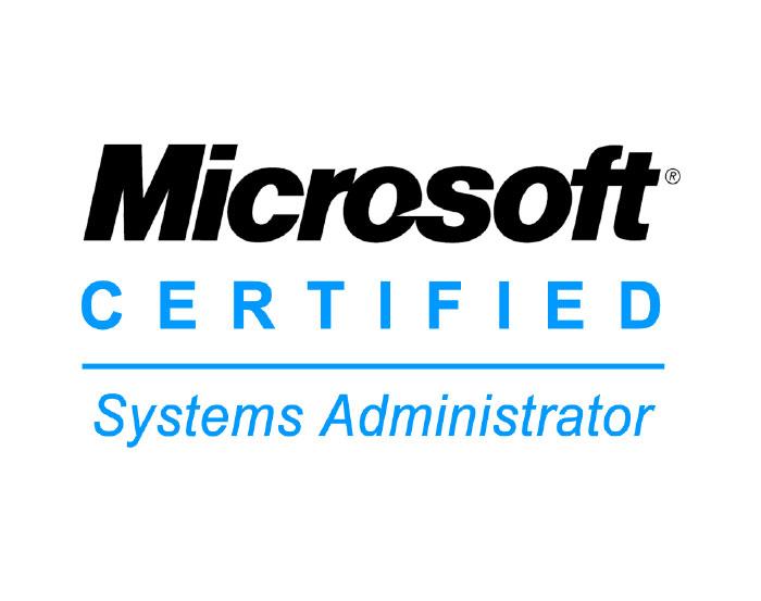 microsoft certified systems admin logo